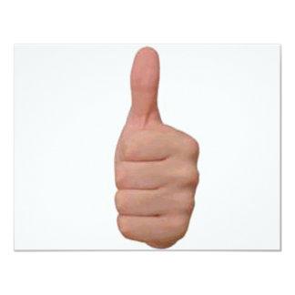 "Thumbs up! 4.25"" x 5.5"" invitation card"