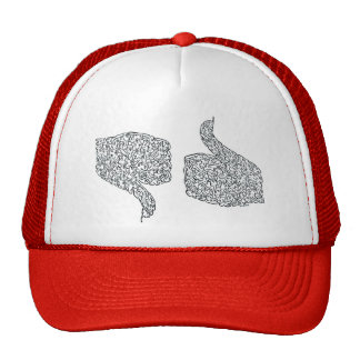 Thumbs Up and Down Trucker Hat