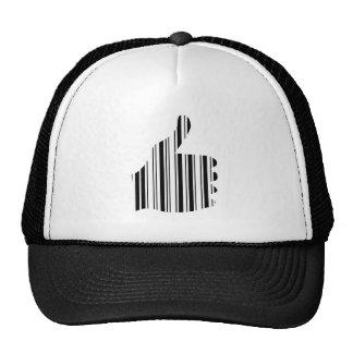 THUMBS UP BAR CODE Thumb Gesture Pattern Design Trucker Hat