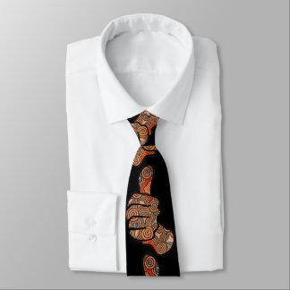 Thumbs Up Black Aboriginal Tie