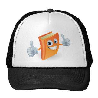 Thumbs up book cartoon character mesh hats