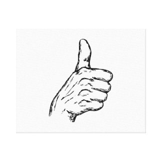 Thumbs Up Gallery Wrapped Canvas