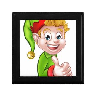 Thumbs Up Christmas Elf Cartoon Character Gift Boxes