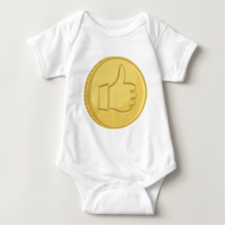 Thumbs Up Coin Baby Bodysuit