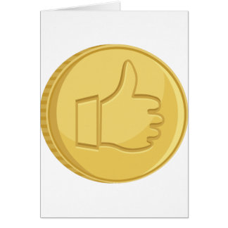 Thumbs Up Coin Card