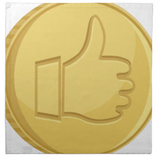 Thumbs Up Coin Napkin