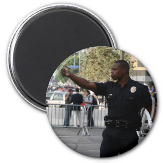 Thumbs Up - Cop at  Funeral in LA 2 Inch Round Magnet