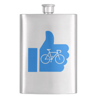 Thumbs Up Cycling Hip Flask