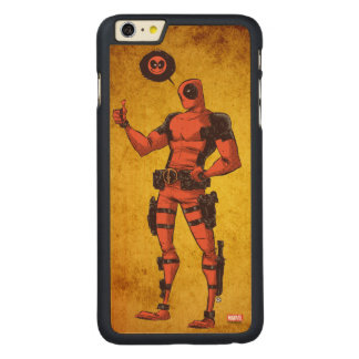 Thumbs Up Deadpool With Emote Carved® Maple iPhone 6 Plus Case