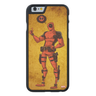 Thumbs Up Deadpool With Emote Carved® Maple iPhone 6 Slim Case