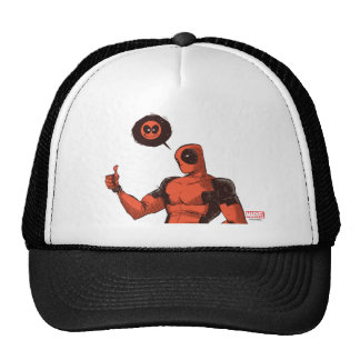 Thumbs Up Deadpool With Emote Trucker Hat
