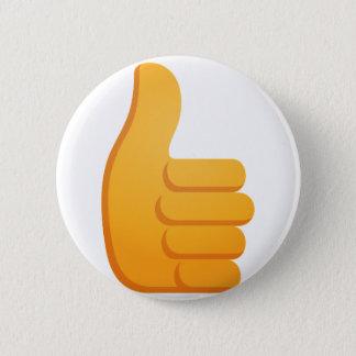 Thumbs Up Emoji 2 Inch Round Button