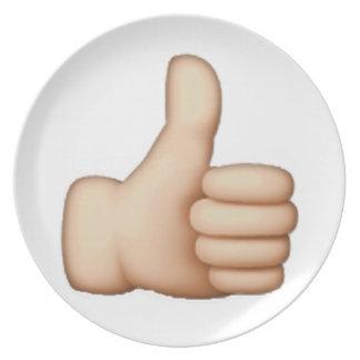 Thumbs Up - Emoji Plate