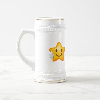Thumbs Up Emoji Star Beer Stein