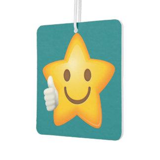 Thumbs Up Emoji Star Car Air Freshener
