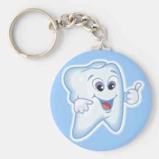 Thumbs up for dental hygiene! keychain