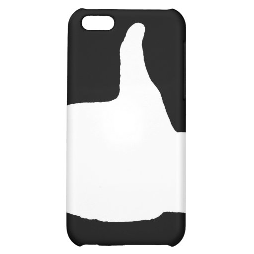 Thumbs Up Gesture, Black Back iPhone 5C Cases
