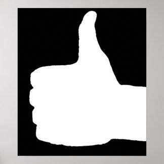 Thumbs Up Gesture, Black Back Print
