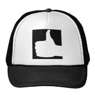Thumbs Up Gesture, Black Back Trucker Hat