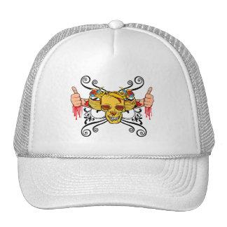Thumbs Up (Gold Skull) Trucker Hat