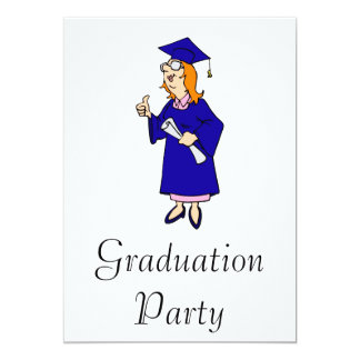 "Thumbs Up Graduate 5"" X 7"" Invitation Card"