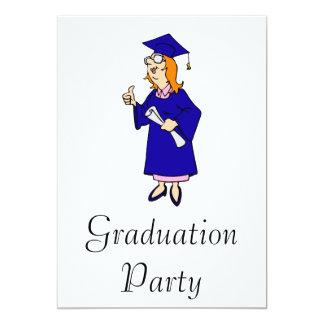 Thumbs Up Graduate 5x7 Paper Invitation Card