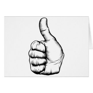 Thumbs up hand card