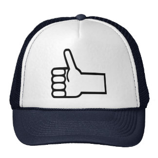 Thumbs up mesh hat