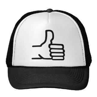 Thumbs up hats