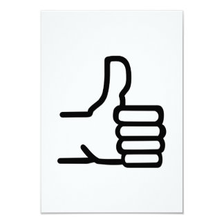 "Thumbs up 3.5"" x 5"" invitation card"