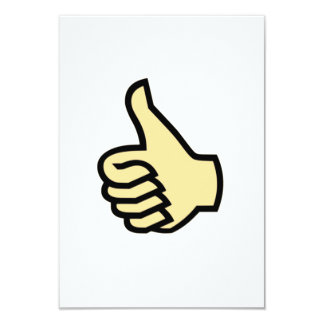 Thumbs Up 3.5x5 Paper Invitation Card