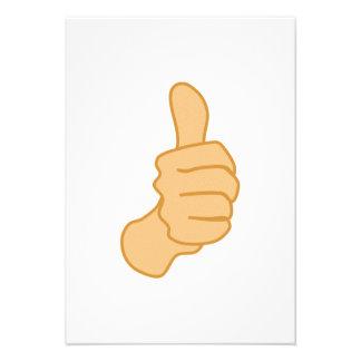 Thumbs Up Custom Invitations