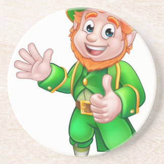 Thumbs Up Leprechaun St Patricks Day Character Beverage Coaster