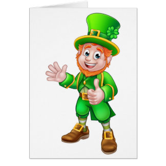 Thumbs Up Leprechaun St Patricks Day Character Card