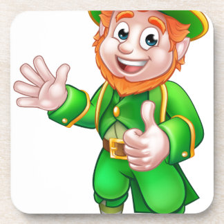Thumbs Up Leprechaun St Patricks Day Character Coasters