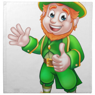 Thumbs Up Leprechaun St Patricks Day Character Napkin