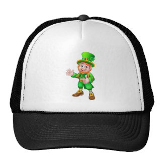 Thumbs Up Leprechaun St Patricks Day Character Trucker Hat