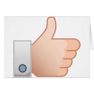 Thumbs Up Like Card