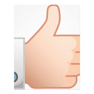 Thumbs Up Like Letterhead