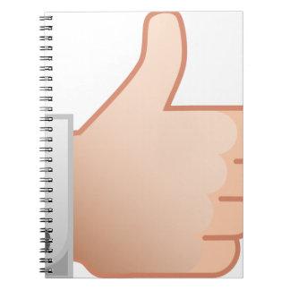 Thumbs Up Like Notebooks