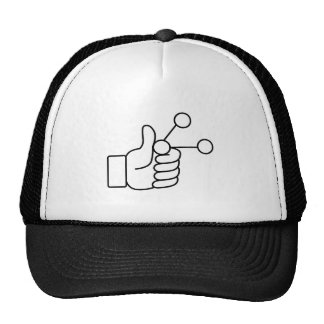 Thumbs Up Like Shared Link Icon Trucker Hat