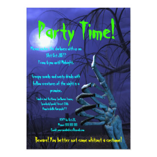 "Thumbs up Moonlight Theme 5.5"" X 7.5"" Invitation Card"