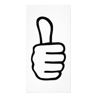 Thumbs up picture card