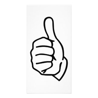 Thumbs up customized photo card