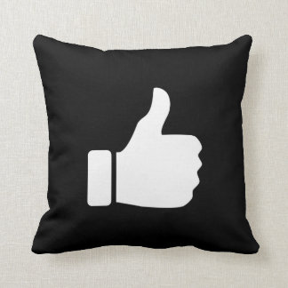 Thumbs Up Pictogram Throw Pillow
