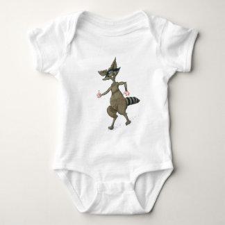Thumbs Up Raccoon Baby Bodysuit