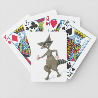 Thumbs Up Raccoon Bicycle Playing Cards