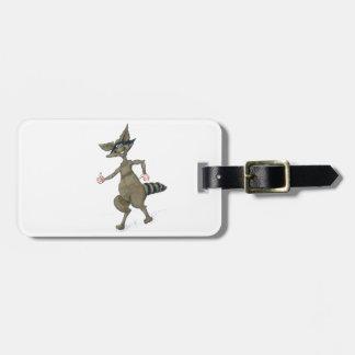 Thumbs Up Raccoon Luggage Tag