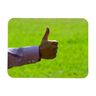 Thumbs Up Rectangular Photo Magnet