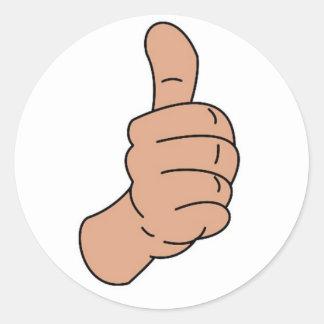 Thumbs up round sticker